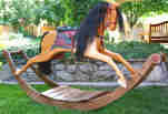 fee plans woodworking resource from WoodworkersWorkshop Online Store - rocking horses,wooden furniture,child rockers,ponies,ponys,scrollsawing,scrollsawn,scrolling,woodworking plans,projects,patterns