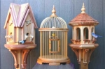 Bird House, Cage and Feeder Woodworking Patterns Set of 3
