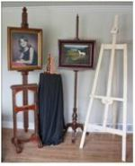 Four Easels and Display Stands Pack of Woodworking Plans.