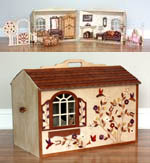 Barbie Doll House Close and Carry, Barbie dollhouses,portable,folding,carry-and-play,childrens,childs,kids,fee woodworking plans,projects,patterns,blueprints,build,construction,how to,diy,do-it-yourself