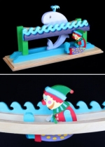 04-FS-159-E - Tumble Clown Diving Whale Euro Scrollsaw Plan - part of a 7 plans pkg