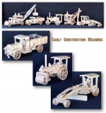 04-FS-163 - Early Construction Vehicles Woodworking Plan Set