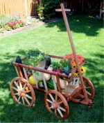 Garden Cart Woodworking Plan, garden carts,wagons,pyll carts,goat carts,drawings,woodworkers projects,workshop blueprints