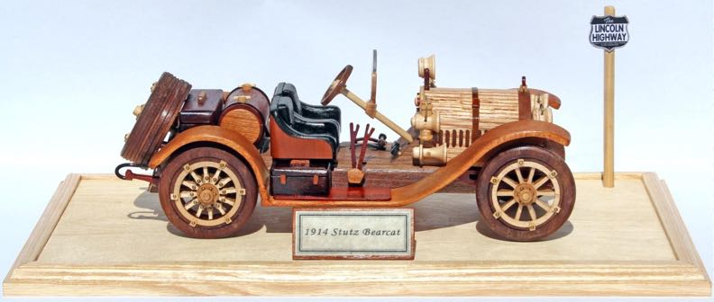 Stutz Bearcat Antique Automobile Woodworking Plan.
