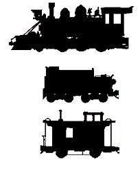 Coal Car and Caboose Train Scroll Saw Pattern
