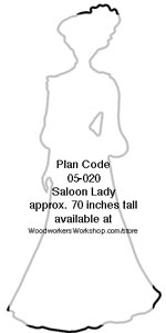 Saloon Lady Silhouette Woodworking Plan woodworking plan