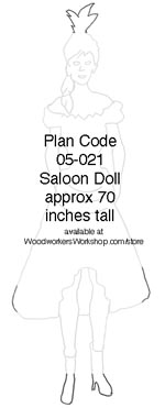 05-021 - Saloon Gal Silhouette Woodworking Plan