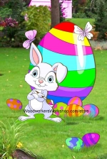 Easter Bunny Artist Woodworking Plan