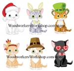 05-AV-1566 - Smitten Kitten Woodworking Plan - 6 designs included