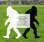 Bigfoot Sasquatch 7ft tall Yard Art Woodworking Pattern woodworking plan