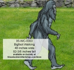 Bigfoot Walking Yard Art Woodworking Pattern.
