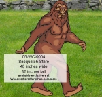 Sasquatch Stare Yard Art Woodworking Pattern woodworking plan