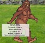 Sasquatch Stare Yard Art Woodworking Pattern.