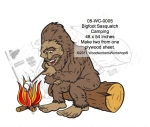 Bigfoot Sasquatch Camping Yard Art Woodworking Pattern woodworking plan