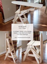05-WC-0006 - 3-in-1 Chair Woodworking Plan