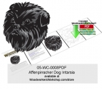 Affenpinscher Dog Intarsia Woodworking Pattern.