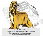 05-WC-0011 - Afghan Hound Life Size Yard Art Woodworking Pattern