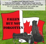 Canadian Soldiers Memorial Yard Art Woodworking Pattern