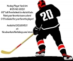 Hockey Player Left Hand Full Size Woodworking Pattern