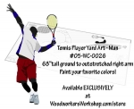 Tennis Player Woodworking Plan - Man, tennis players,serving,sports,male,men,wood crafts,jig sawing,scroll sawing patterns,woodworking plans,woodworkers projects,workshop blueprints