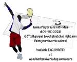 Tennis Player Woodworking Plan - Man