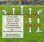 05-WC-0030L - Boneyard Fence Halloween Yard Art Woodworking Pattern - 48 inches tall