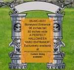 05-WC-0031 - Boneyard Cemetery Entrance Halloween Yard Art Woodworking Pattern