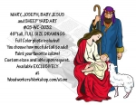 Mary Joseph Baby Jesus and Sheep Nativity Yard Art Woodworking Pattern.