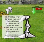 05-WC-0033-1 - Boneyard Number 1 Yard Art Woodworking Pattern
