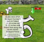 05-WC-0033-5 - Boneyard Number 5 Yard Art Woodworking Pattern
