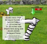 Boneyard Number 7 Yard Art Woodworking Pattern