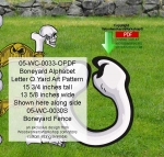 05-WC-0033-O - Boneyard Letter O Yard Art Woodworking Pattern
