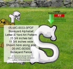 05-WC-0033-S - Boneyard Letter S Yard Art Woodworking Pattern