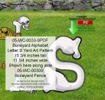 Boneyard Letter S Yard Art Woodworking Pattern