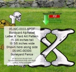 05-WC-0033-X - Boneyard Letter X Yard Art Woodworking Pattern