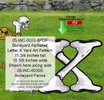 Boneyard Letter X Yard Art Woodworking Pattern