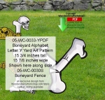 05-WC-0033-Y - Boneyard Letter Y Yard Art Woodworking Pattern