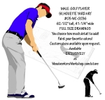 Golf Player Male - Yard Art Woodworking Pattern