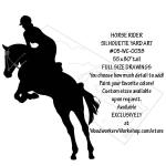 fee plans woodworking resource from WoodworkersWorkshop® Online Store - horses,riders,horse jumping,equestrian,yard art,silhouettes,painting wood crafts,scrollsawing patterns,drawings,woodworking plans,woodworkers projects,workshop blueprints