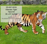 Siberian Tiger Yard Art Woodworking Pattern, siberian tigers,wildlife,animals,savannah,safari,predators,big cats,yard art,painting wood crafts,scrollsawing patterns,drawings,plywood,plywoodworking plans,woodworkers projects,workshop blueprints