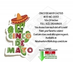05-WC-0053 - Cinco De Mayo Cactus Yard Art Woodworking Pattern