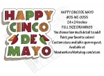 05-WC-0055 - Happy Cinco de Mayo Yard Art Woodworking Pattern