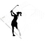 05-WC-0060 - Female Golfer Silhouette Yard Art Woodworking Pattern