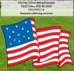 05-WC-0065 - 13 Star USA Flag Waving Downwards Yard Art Woodworking Pattern.