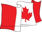 05-WC-0068 - Canada Flag Waving Upwards Yard Art Woodworking Pattern.