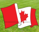 Canada Flag Waving DownwardsFull Size Woodworking Pattern.