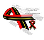 RCMP Memorial Ribbon Yard Art Woodworking Pattern. woodworking plan