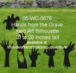 05-WC-0076 - Hands from the Graves Yard Art Woodworking Pattern