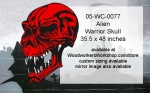 05-WC-0077 - Alien Warrior Skull Yard Art Woodworking Pattern