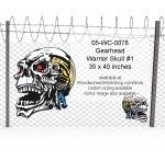 05-WC-0078 - Gearhead Warrior Skull Yard Art Woodworking Pattern